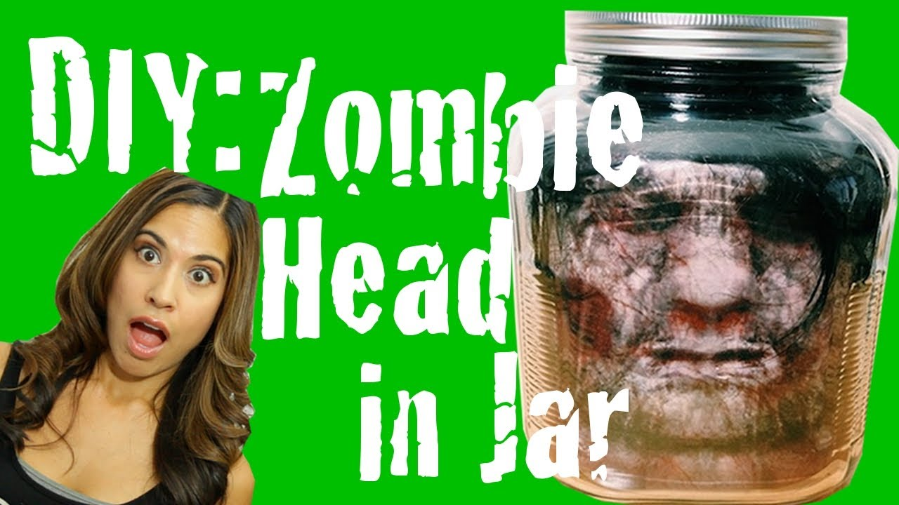 image relating to Halloween Head in a Jar Printable named Do it yourself Zombie Intellect inside of Jar