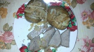 Говядина и картошка в фольге (подходит в пост)