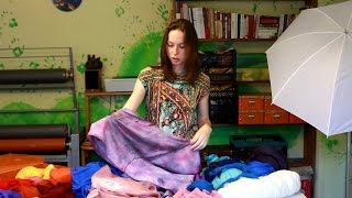 Как выбрать шелк и шерсть для валяния. Фрагмент МК по валянию шарфа-трансформера.