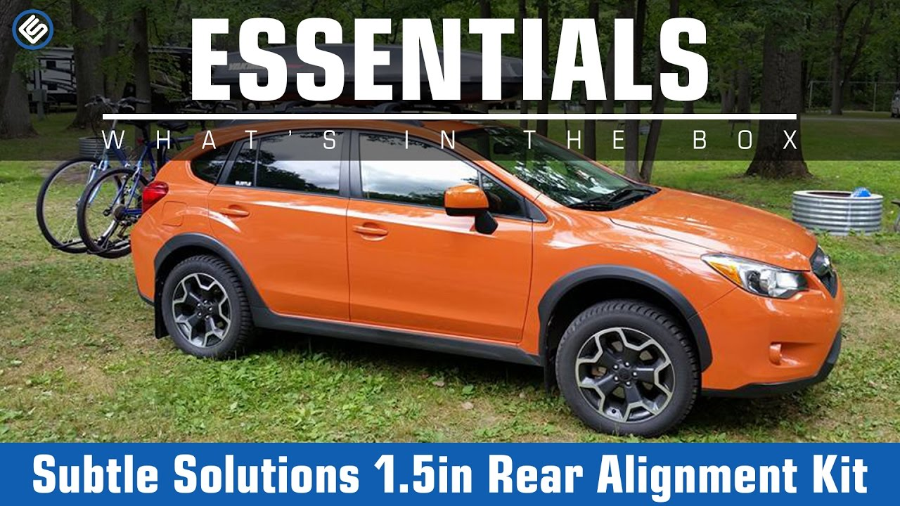 Subtle Solutions 1 5 Inch Rear Alignment Kit - 2014+ Forester / 2016+  Crosstrek - What's In The Box?