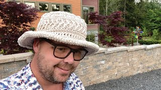 Left Hand: Crochet Summer Stunner Hat   INTERMEDIATE   The Crochet Crowd