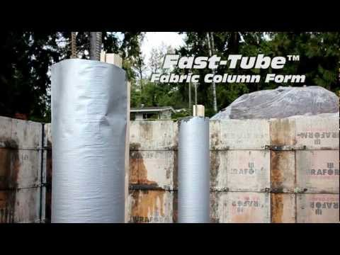 Fast Tube Concrete Column Form Sonotube Replacement Youtube