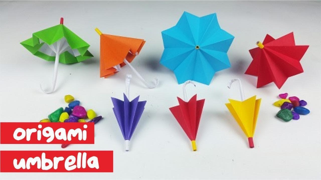 Cara Membuat Payung Origami Kok Bisa How To Fold Umbrella Paper