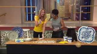 DIY Mosaic China Plate Table Tops with Jane Monzures