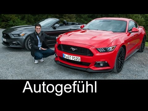 FULL REVIEW all-new Ford Mustang Fastback V8 & Convertible Cabriolet 2.3 l Turbo test driven
