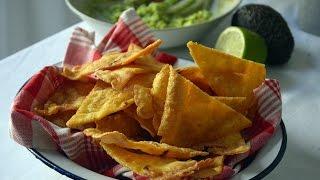 Cómo hacer Nachos caseros o Totopos de maiz – Recetas mexicanas