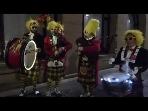 Absurdist Bagpipes Music Burns Night Parade Perth Perthshire Scotland