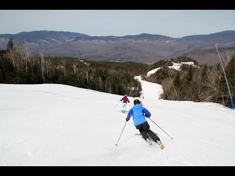 Loon Mtn NH - April Spring Ski Run Top to Bottom