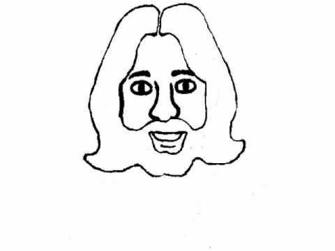 Bible Cartoon Drawing Lord JESUS CHRIST YouTube