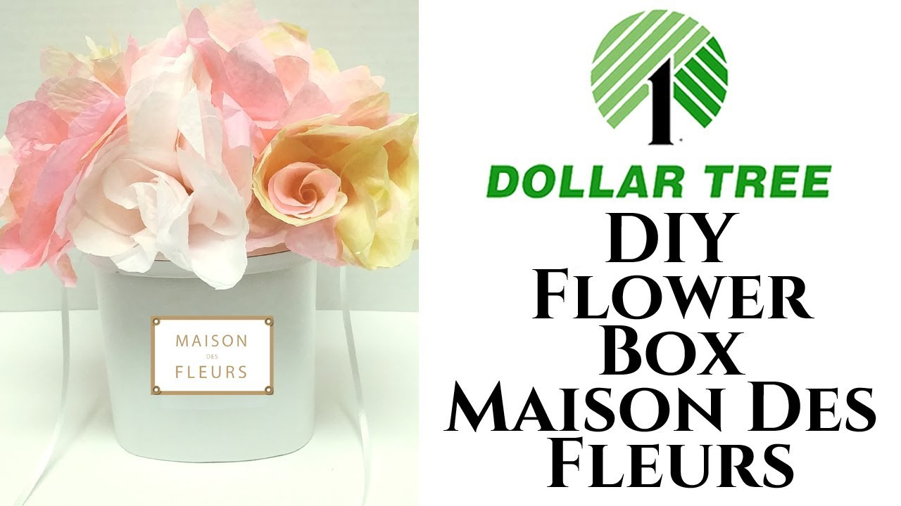 dollar tree diy flower box maison des fleurs coffee filter flowers 2018 youtube. Black Bedroom Furniture Sets. Home Design Ideas