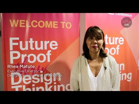 Rhea Matute, Exec Director for Design Center Philippines on the 1st International Design Conference