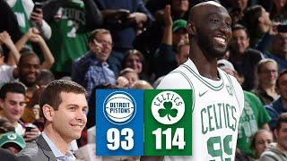 Tacko Fall gets standing ovation in Pistons vs. Celtics   2019-20 NBA Highlights