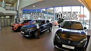 2021 Peugeot 3008 (GT vs ALLURE vs ACTIVE) Interior & Exterior comparison POV video. WOW quality!