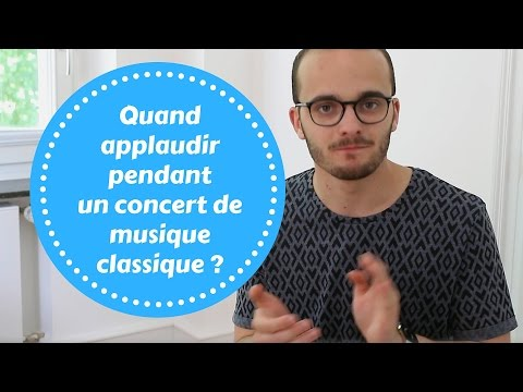 Quand applaudir pendant un concert de musique classique ?