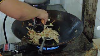Китайская кухня Обезьянья лапша и курица гриль Жизнь в Китае 258