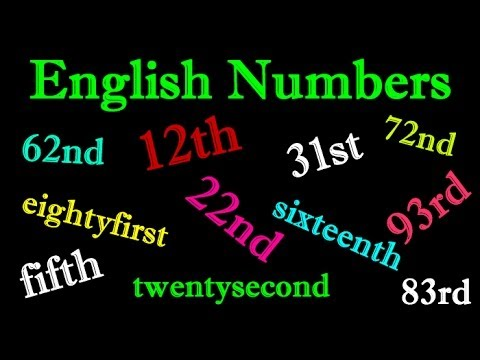 learn english numbers 1st 2nd 3rd 4th