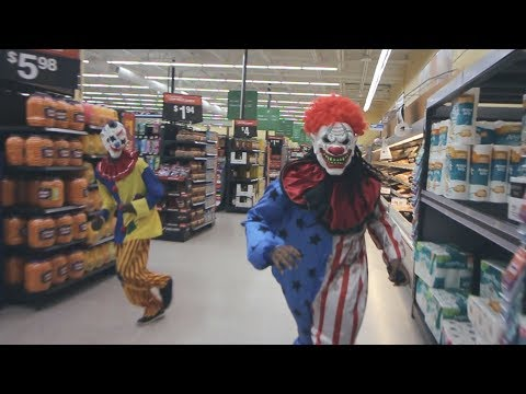 KILLER CLOWNS RUN AROUND WALMART!!