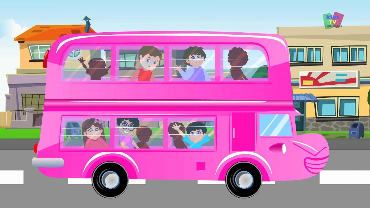 As Rodas Do Onibus Wheels On The Bus Desenho Animado Video