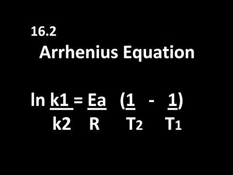 16.2 Arrhenius Equation k1,k2,T1,T2 [HL IB Chemistry]