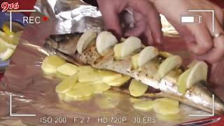 Скумбрия в фольге запеченная в духовке 3 способа