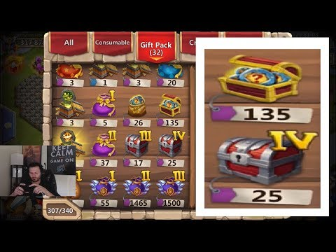 Opening NEW Rewards INSANE Amounts ALL THE GOODS Castle Clash