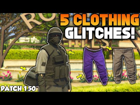 GTA 5 ONLINE TOP 5 CLOTHING GLITCHES AFTER PATCH 1.50! (Save CEO Outfits,Any Joggers,Duffel Bag)