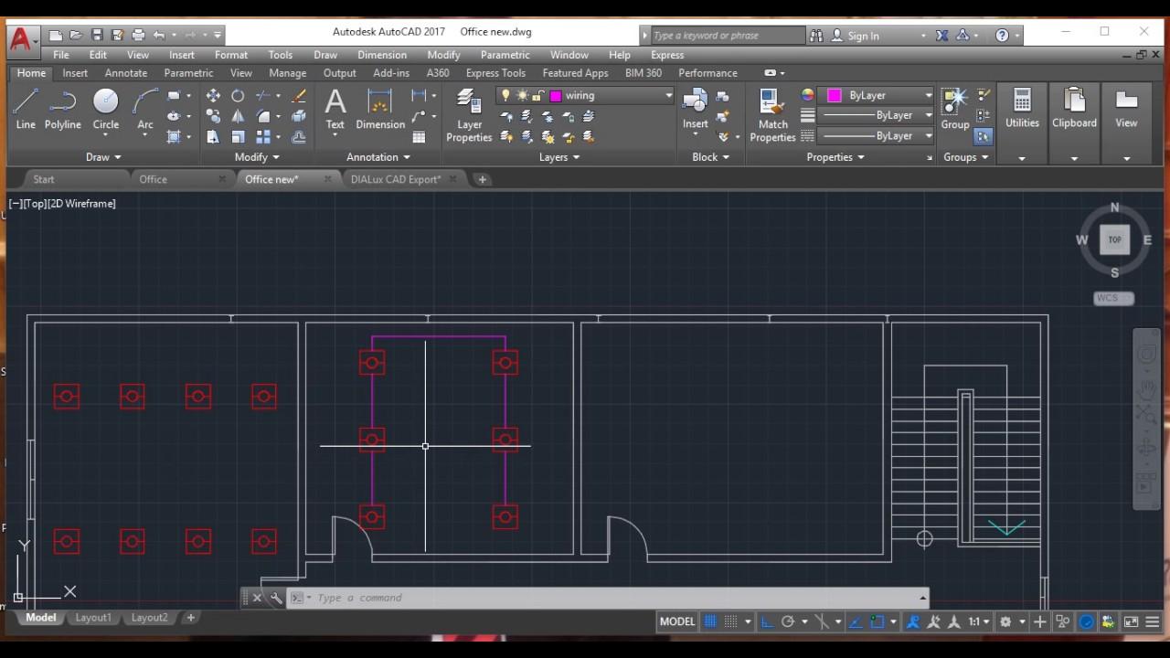 lighting design cad with dialux part 2 [ 1280 x 720 Pixel ]