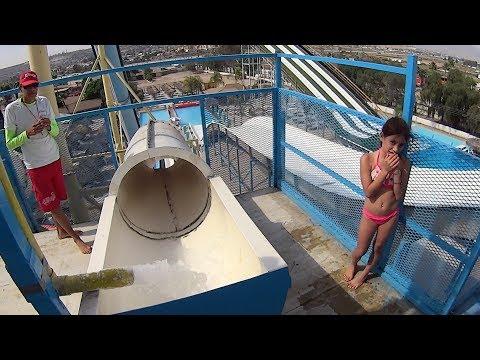 Scary White Water Slide at Albercas El Vergel