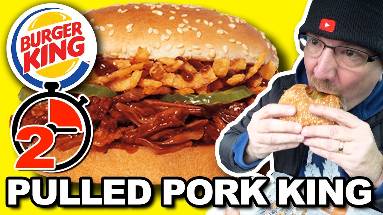 Burger King ???????????? Pulled Pork King Sandwich ???? 2 Minute Tasty Tuesdays ????