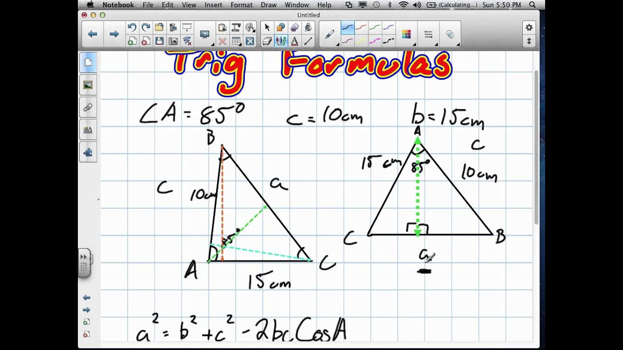 Trig Ratios And Laws Grade 11 University Review 61912v Youtube