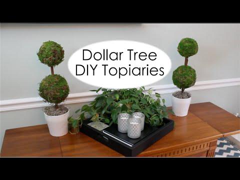 Dollar Tree Decor   Pottery Barn Inspired Topiary