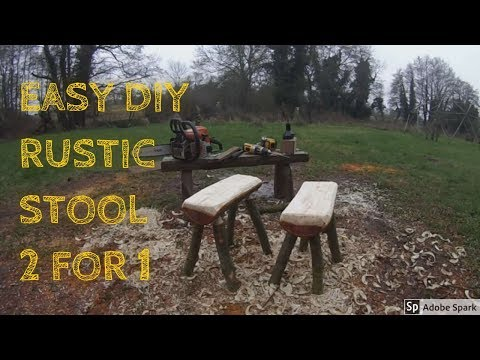 make-a-log-stool-with-no-nails---wood-craft---easy-rustic-diy