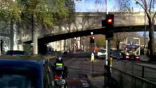 Driving through central London