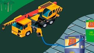 Видео для детей про машинки.Заправка и сборка машинок. Рабочие машины. Автокран. Бетономешалка.(, 2015-12-03T05:00:00.000Z)