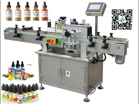 Adhesive sticker label machine for e cig bottle auto e liquid ...