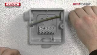 DK-Kabeleinführung über Einsteckstutzen / DK-Cable entry via grommets