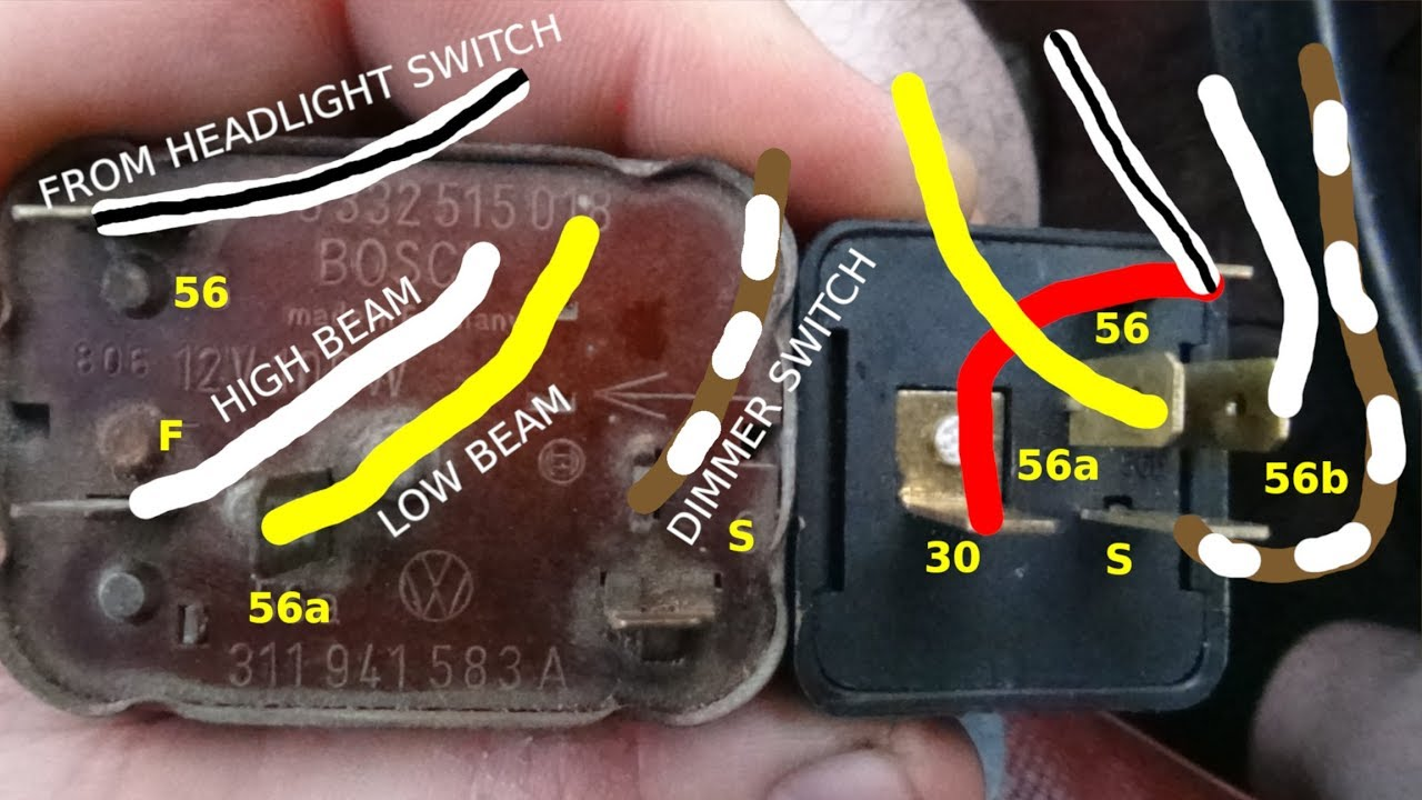 small resolution of howto replace air cooled vw turn signal and dimmer relay