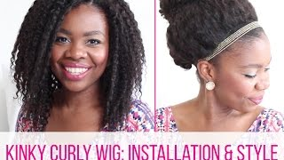Kinky Curly Wig: Installation & Style on 4C Hair  | African Natural Hair Blogger