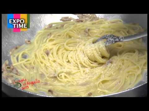 """Sapori del Delta: ricetta """"Linguine, cacio, pepe e anguilla affumicata"""""""