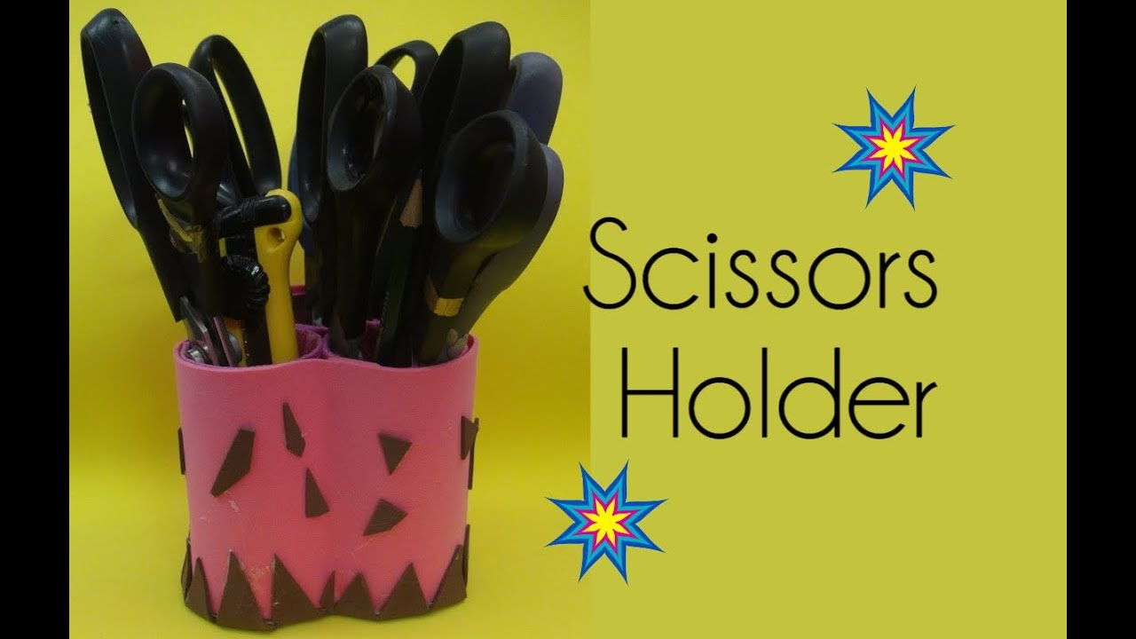 SCISSOR HOLDER with Toilet Paper Roll - DIY - YouTube