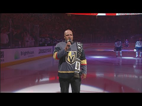 WPG@VGK, Gm4: Carnell Johnson sings national anthems