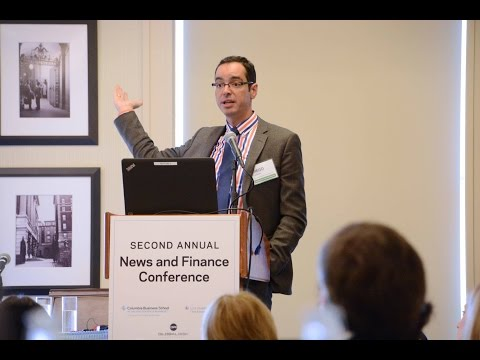 "News and Finance Conference –  Diego Garcia, ""Kinks of Financial Journalism"""