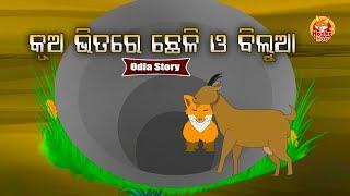 Kua Bhitare Chheli O Bilua  | କୂଅ ଭିତରେ ଛେଳି ଓ ବିଲୁଆ | Odia Moral Story For Kids