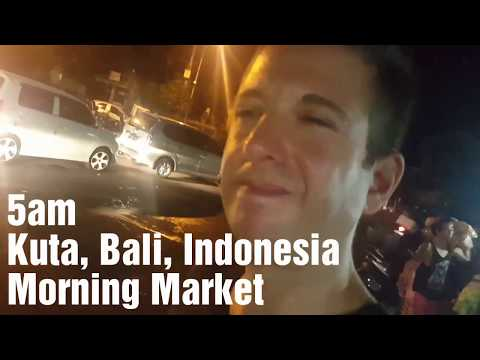 5am Morning Market @Kuta Bali Indonesia. Local snacks and homemade alcohol moonshine!!