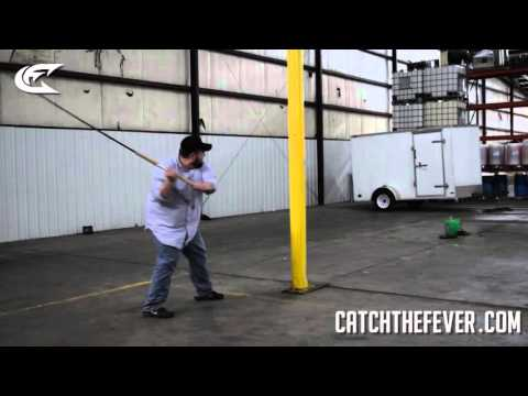 MUST SEE!!! Catch The Fever Fishing Rod Swing Stress Test