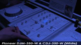 Pioneer CDJ-350-W & DJM-350-W (White) | agiprodj.com - NAMM 2011
