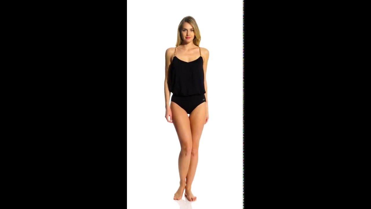 255ab676463ca Vince Camuto Polish Blouson One Piece Swimsuit