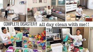 COMPLETE DISASTER CLEANING MOTIVATION // CLEAN WITH ME // Jessica Tull cleaning