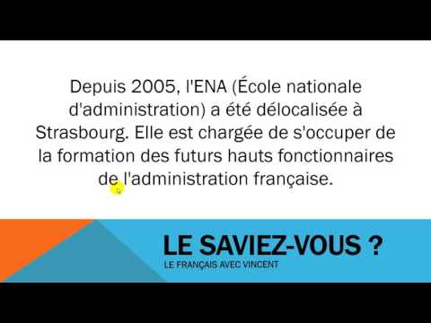 Learn French # Le saviez vous # L'école nationale d'administration