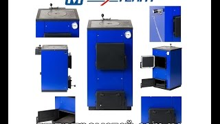 видео Котел твердотопливный MaxiTerm 12 кВт с варочной плитой